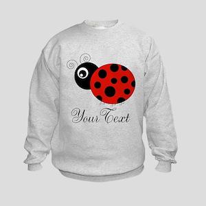Red and Black Personalizable Ladybug Sweatshirt