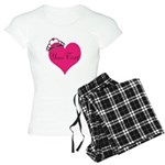 Personalizable Pink Heart with Crown Pajamas