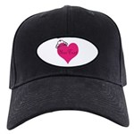 Personalizable Pink Heart with Crown Baseball Hat