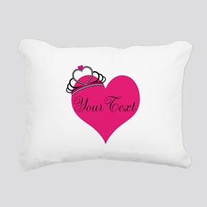 Personalizable Pink Heart with Crown Rectangular C
