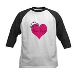 Personalizable Pink Heart with Crown Baseball Jers
