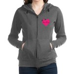 Personalizable Pink Heart with Crown Women's Zip H