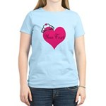 Personalizable Pink Heart with Crown T-Shirt