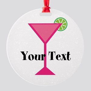 Personalizable Pink Cocktail Ornament