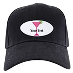 Personalizable Pink Cocktail Baseball Hat