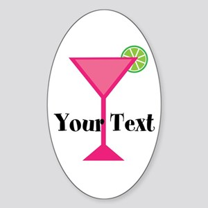Personalizable Pink Cocktail Sticker