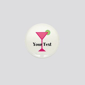 Personalizable Pink Cocktail Mini Button