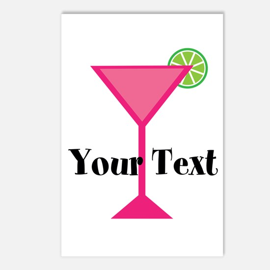 Personalizable Pink Cocktail Postcards (Package of