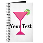 Personalizable Pink Cocktail Journal