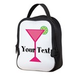 Personalizable Pink Cocktail Neoprene Lunch Bag