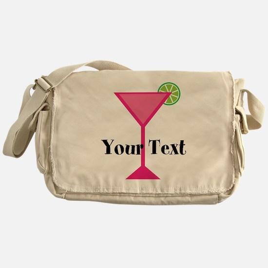 Personalizable Pink Cocktail Messenger Bag