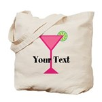 Personalizable Pink Cocktail Tote Bag