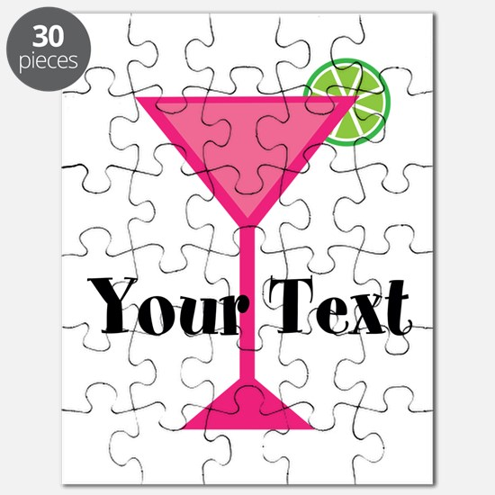 Personalizable Pink Cocktail Puzzle