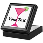 Personalizable Pink Cocktail Keepsake Box