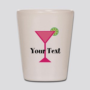 Personalizable Pink Cocktail Shot Glass