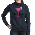 Personalizable Pink Cocktail Women's Hooded Sweats
