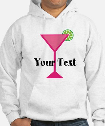 Personalizable Pink Cocktail Hoodie