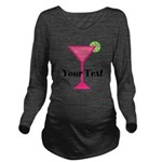 Personalizable Pink Cocktail Long Sleeve Maternity