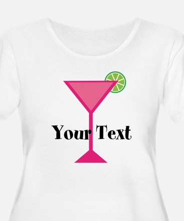 Personalizable Pink Cocktail Plus Size T-Shirt