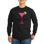 Personalizable Pink Cocktail Long Sleeve T-Shirt