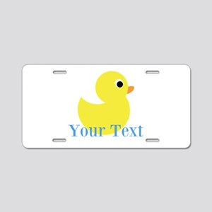 Personalizable Yellow Duck Blue Aluminum License P