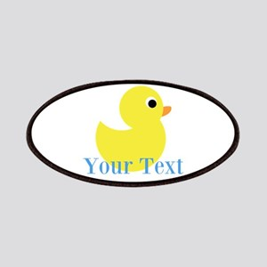 Personalizable Yellow Duck Blue Patch