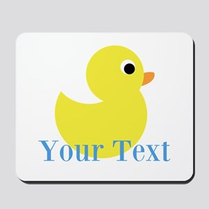 Personalizable Yellow Duck Blue Mousepad