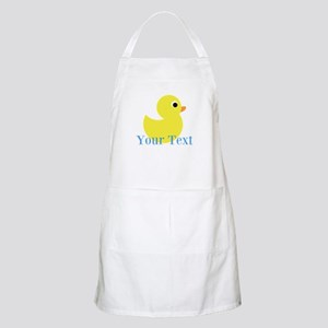 Personalizable Yellow Duck Blue Apron