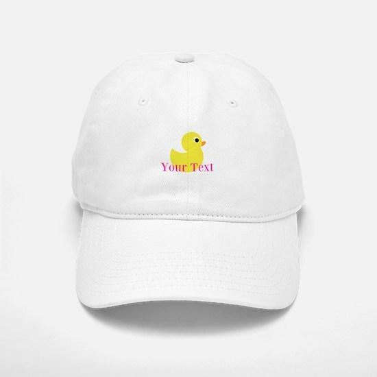 Personalizable Pink Yellow Duck Baseball Baseball Baseball Cap