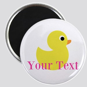 Personalizable Pink Yellow Duck Magnets