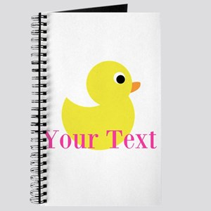 Personalizable Pink Yellow Duck Journal