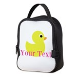 Personalizable Pink Yellow Duck Neoprene Lunch Bag