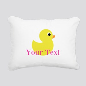 Personalizable Pink Yellow Duck Rectangular Canvas