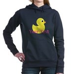 Personalizable Pink Yellow Duck Women's Hooded Swe