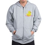 Personalizable Pink Yellow Duck Zip Hoodie