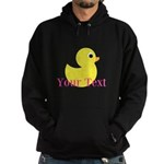 Personalizable Pink Yellow Duck Hoodie
