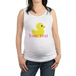 Personalizable Pink Yellow Duck Maternity Tank Top