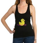 Personalizable Pink Yellow Duck Racerback Tank Top