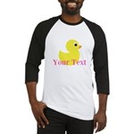 Personalizable Pink Yellow Duck Baseball Jersey