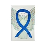 Blue Awareness Ribbon Angel Magnets