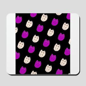 Hippo Ditto Purple Black 4 Mack Mousepad