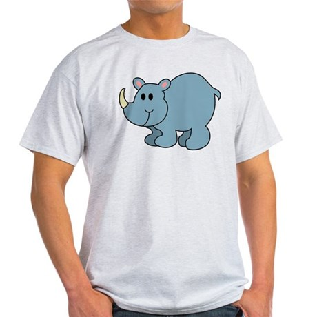 Cartoon Rhinoceros Light T-Shirt