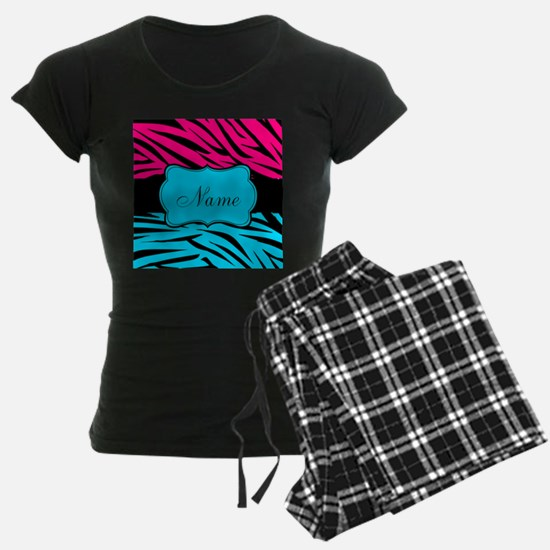 Personalizable Hot Pink and Teal Pajamas