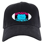 Personalizable Hot Pink and Teal Baseball Hat