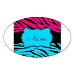 Personalizable Hot Pink and Teal Sticker