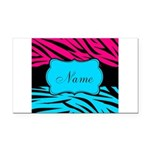 Personalizable Hot Pink and Teal Rectangle Car Mag