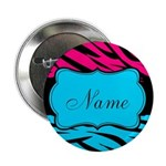 Personalizable Hot Pink and Teal 2.25