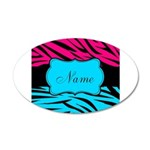 Personalizable Hot Pink and Teal Wall Decal
