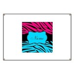 Personalizable Hot Pink and Teal Banner
