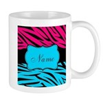 Personalizable Hot Pink and Teal Mugs